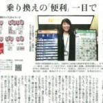 10/5(月)夕刊読売新聞10/3号にのりかえ便利マップと福井代表が、大きく紹介されました。